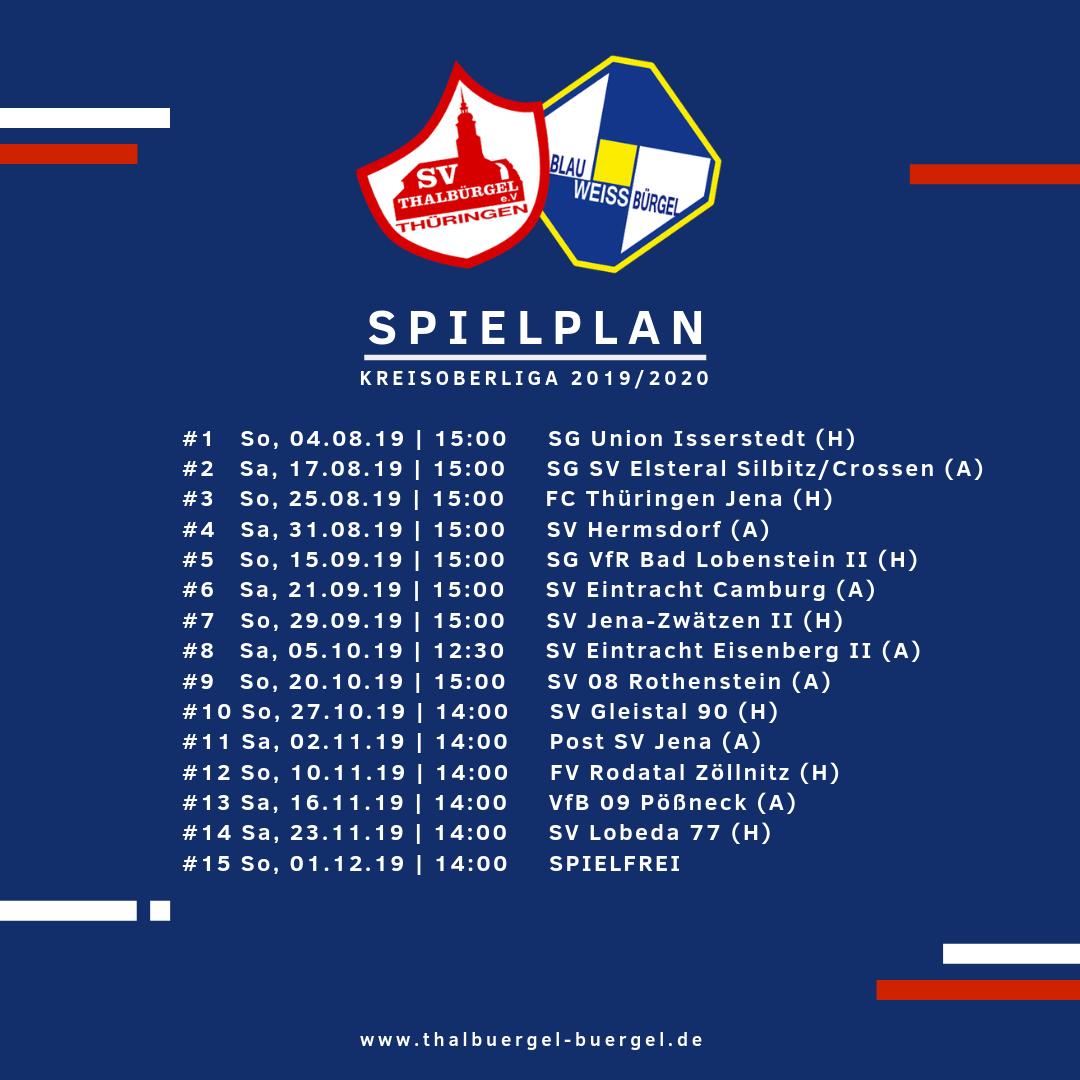 Spielplan Jena
